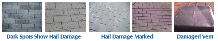 Hail Damaged Roofs