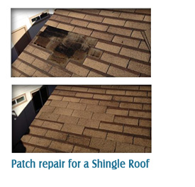 Patch Repair on a Shingle Roof