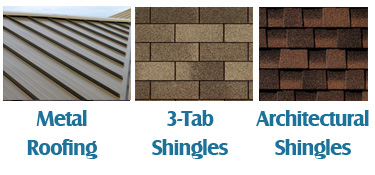 Shingle Samples, Asphalt, 3-Tab, and Architectural